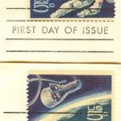 Accomplishments in Space Set of 2 5 cent Stamps Gemini 4 Space Walking FDI First Day Issue