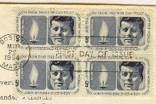 President John F Kennedy Memorial 5 cent Stamp FDI SC 1246 First Day Issue