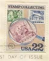 Under Magnifying Glass 22 cent Stamp Stamp Collecting Issue FDI SC 2200 First Day Issue