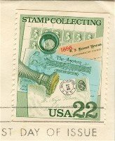 Handstamped Cover 22 cent Stamp Stamp Collecting Issue FDI SC 2198 First Day Issue