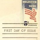 Register to Vote 5 cent Stamp FDI SC 1249 First Day Issue