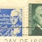 Benjamin Franklin 7 cent Stamp FDI SC 1393D First Day Issue