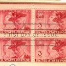 Grand Army of the Republic 3 cent Block of 4 FDI SC 985 First Day Issue