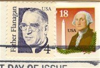 Father Flanagan 4 cent Stamp Great Americans Issue FDI SC 2171 First Day Issue