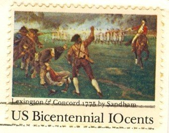 Lexington and Concord 10 cent Stamp Bicentennial Issue FDI SC 1563 First Day Issue