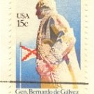 General Bernardo de Galvez 15 cent Stamp Bicentennial Issue FDI SC 1826 First Day Issue