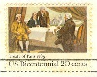 Treaty of Paris 20 cent Stamp Bicentennial Issue FDI SC 2052 First Day Issue