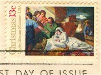 1976 Nativity by John Singleton Copley Stamp FDI SC 1701 First Day Issue