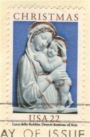 1985 Genoa Madonna Christmas stamp Luca Della Robbia 22 cent FDI SC 2165 First Day Issue