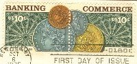 Banking and Commerce Issue Attached Pair FDI SC 1577a First Day Issue