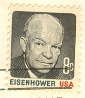 Dwight Eisenhower 8 cent stamp FDI SC 1394 First Day Issue