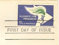 Alliance for Progress 5 cent Stamp FDI SC 1234 First Day Issue