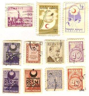 Turkey 11 stamps