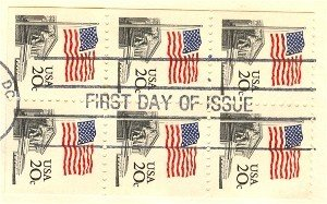 Flag Over Supreme Court 20 cent Stamp Booklet Pane of 6 FDI SC 1896A First Day Issue