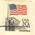 Flag Over Supreme Court 20 cent Stamp Flag Over Issue FDI SC 1894 First Day Issue