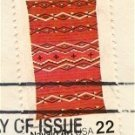 Navajo Blankets Plus Marks 22 cent stamp American Folk Art Issue FDI SC 2235 First Day Issue