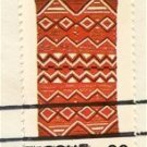 Navajo Blankets jagged line horizontally 22 cent stamp American Folk Art Issue FDI SC 2238