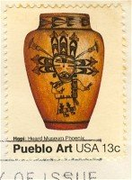 Hopi Pot Pueblo Art 13 cent stamp American Folk Art Issue FDI SC 1708 First Day Issue