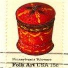 Pennsylvania Toleware Sugar Bowl 15 cent stamp American Folk Art Issue FDI SC 1777 First Day Issue