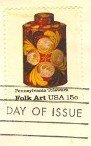 Pennsylvania Toleware Tea Caddy 15 cent stamp American Folk Art Issue FDI SC 1776 First Day Issue