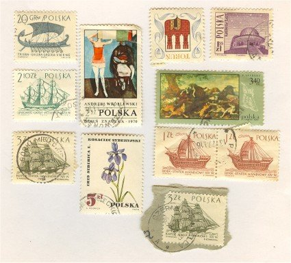 Poland Packet No 4500 with 10 stamps