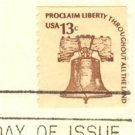 Liberty Bell 13 cent Stamp Americana Issue FDI SC 1595 First Day Issue