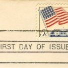 Flag over the White House 5 cent Stamp Flag Over Issue FDI SC 1208 First Day Issue