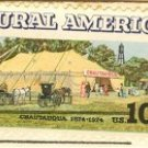 Chautauqua Tent and Buggies 10 cent Stamp Rural America Issue FDI SC 1505 First Day Issue
