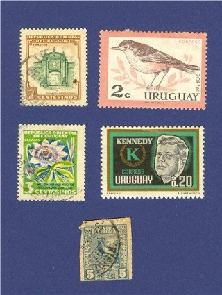 Uruguay 5 Stamps