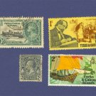 Turks and Caicos Islands 4 stamps