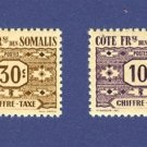 French Colony of Somalia 2 stamps