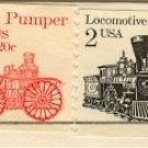 Fire Pumper Locomotive Stamp Transportation Issue Cancellation Error FDI First Day Issue