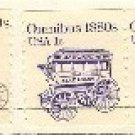 Omnibus 1 cent Coil Stamp Vertical Pair Transportation Issue FDI SC 1897 First Day Issue