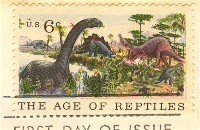 Age of Reptiles 6 cent Stamp Natural History Issue FDI SC 1390 First Day Issue