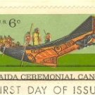 Haida Ceremonial Canoe 6 cent Stamp Natural History Issue FDI SC 1389 First Day Issue