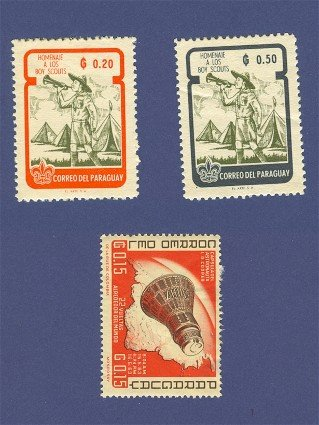 Paraguay 3 stamps