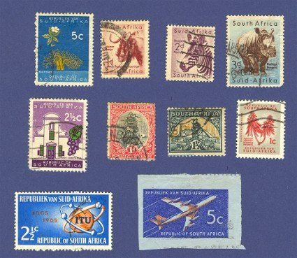 South Africa 10 stamps