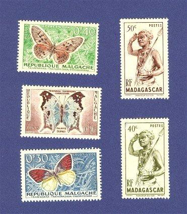 Madagascar 5 stamps