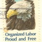 Organized Labor 15 cent Stamp FDI SC 1831 First Day Issue
