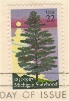 Michigan Statehood 22 cent Stamp FDI SC 2246 First Day Issue