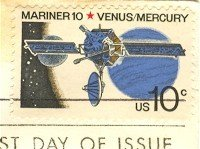 Mariner 10 Venus Mercury 10 cent Stamp FDI SC 1557 First Day Issue