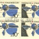 Mariner 10 Venus Mercury 10 cent Stamp Block of 4 FDI SC 1557 First Day Issue