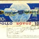 Apollo and Soyuz After Docking View of Earth 10 cent Stamp Cachet US Navy SC 1569