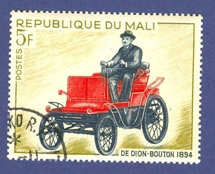 French Colony Mali One Stamp with an early car shown