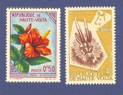 French Colony of Volta 2 Stamps
