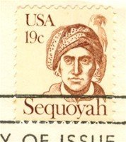 Sequoyah 19 cent Stamp Great Americans Issue FDI First Day Issue