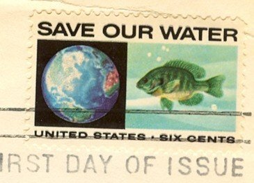 Save Our Waters 6 cent Stamp Anti Pollution Issue FDI SC 1412 First Day Issue