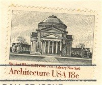 NYU Library 18 cent Stamp American Architecture Issue FDI SC 1928 First Day Issue