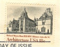 Biltmore House 18 cent Stamp American Architecture Issue FDI SC 1929 First Day Issue