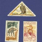 Mauritania 3 stamps
